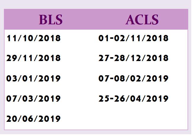 Programme de Formation en BLS et ACLS