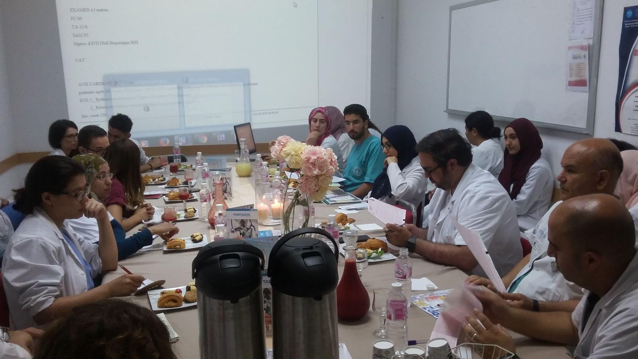 Premier Staff avec les nouveaux Internes et Résidents.