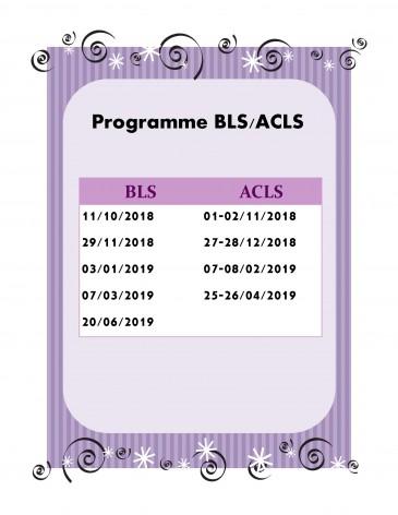 Programme BLS et ACLS 2018