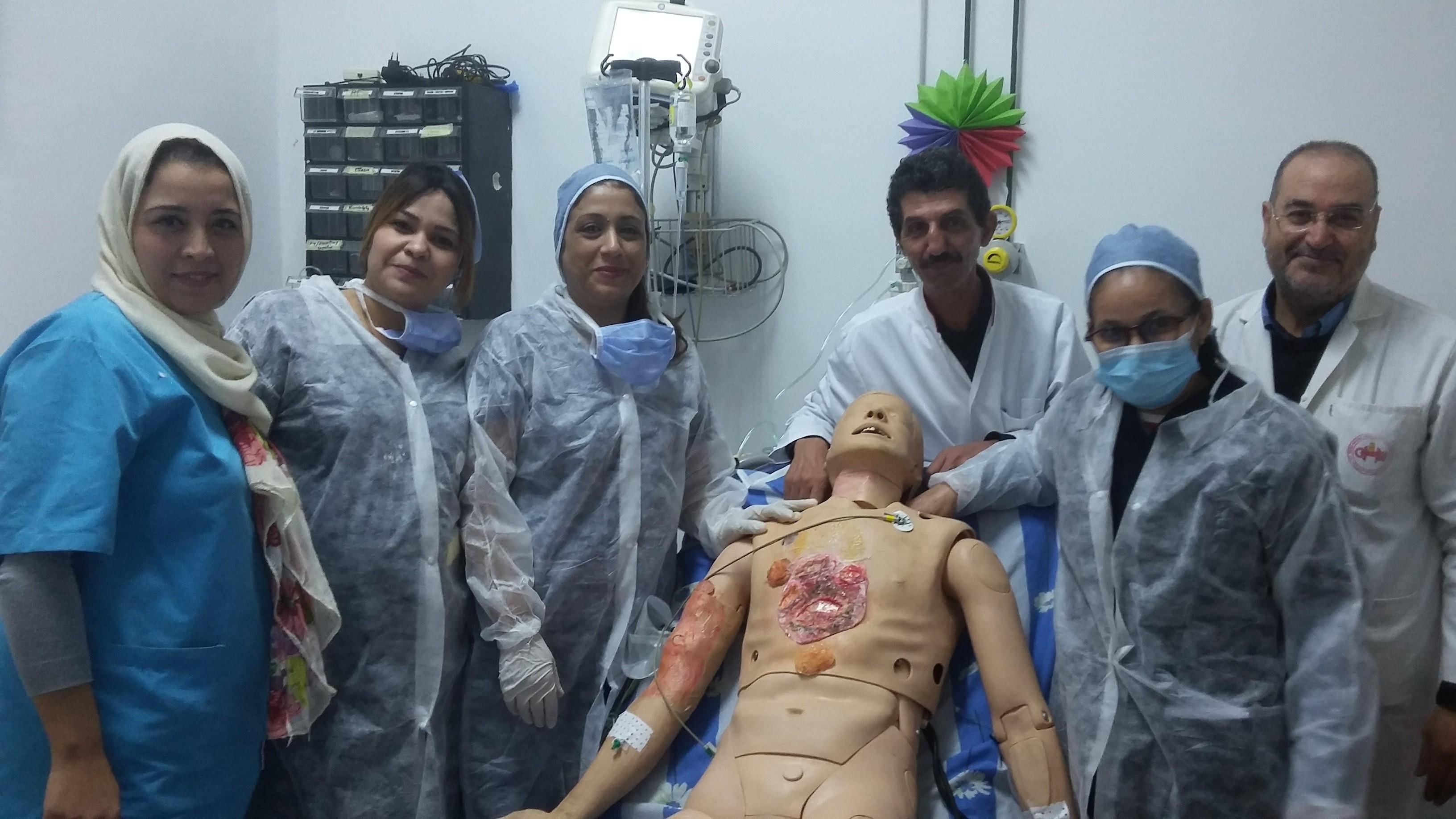 Prise en charge d'un patient brûlé