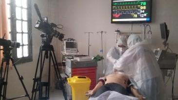 Intubation d'un patient covid+